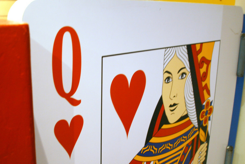 April 6, 2010: Today's Photo du Jour is brought to you by the letter Q! Here is the Queen of Hearts.
