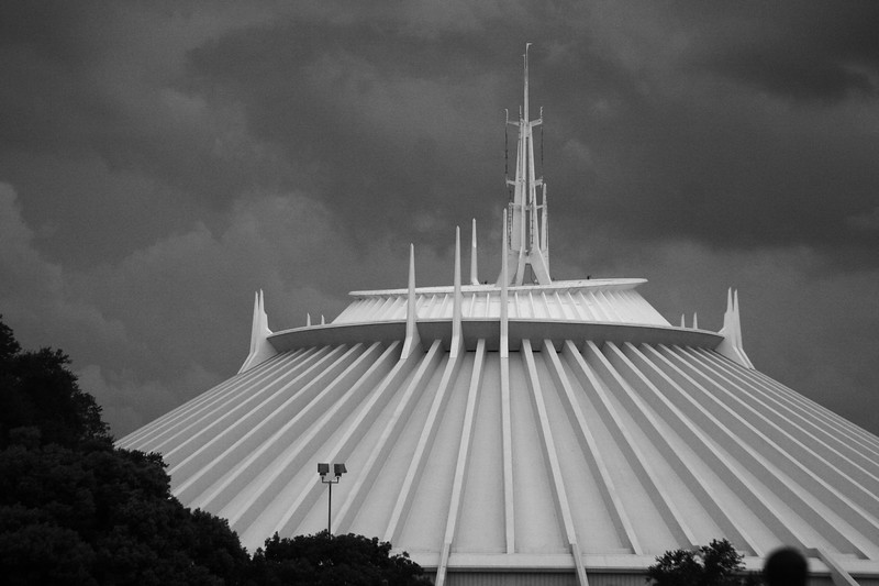 August 19, 2010: Here's a photo of Space Mountain that I took a few weeks ago just before a storm.