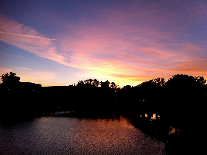January 26, 2011: Here's another early morning shot from Epcot. Gotta love a sunrise!