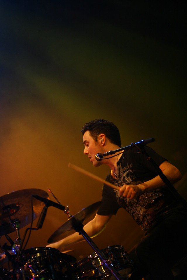 January 18, 2011: Continuing with my photos from The Script, here is a photo of Glen Power, the drummer for the group.
