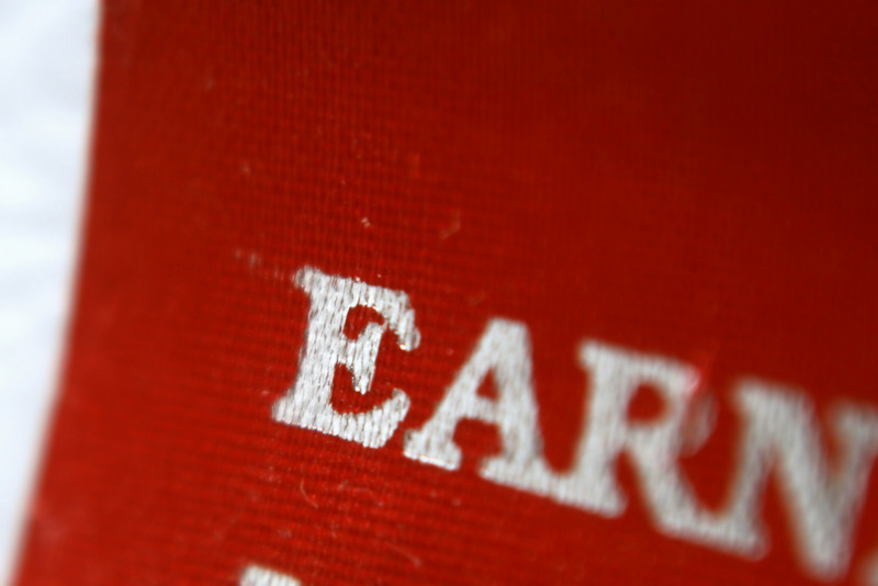 "March 19, 2010: Today's Photo du Jour is brought to you by the letter E! I mentioned last week was my 4 year anniversary at Disney, this is a shot of my ""Earning My Ears"" flag for my name tag."