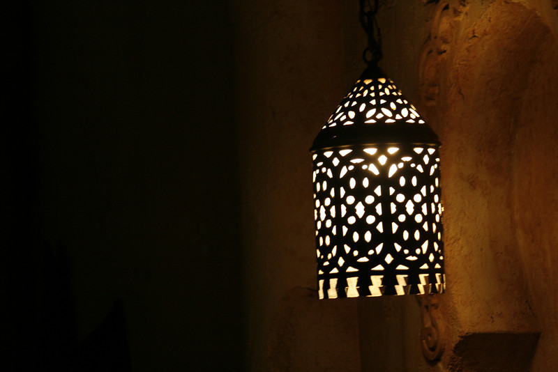 January 26, 2010: Today's photo is from the Morocco pavilion at Epcot.  This is one of the lanterns hanging near the entrance.