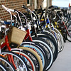 March 9, 2010: There was a bicycle shop in Winter Garden with bikes lined up on the street for sale. Here's a photo of them.
