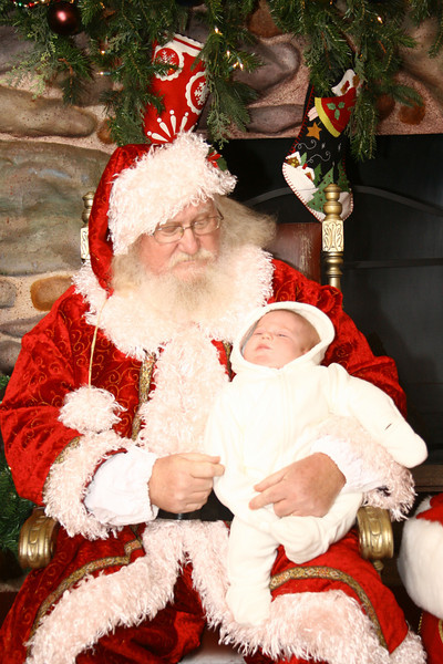 December 13, 2010: We are less than TWO WEEKS away from Christmas! WOW! Here's another photo of baby Jason, this time with good ole St. Nick!
