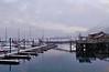 January 15, 2010.  Seward marina, lightly snowing.