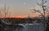 January 6, 2012.  Moonrise over Anchorage
