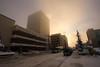January 15, 2012.  A foggy Sunday morning downtown.