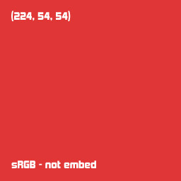 sRGB-not embed