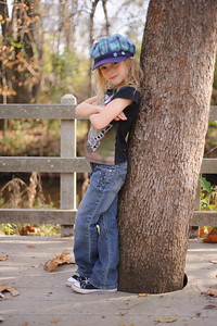 11-02-12.  Little miss attitude on a walk at the Nature Center.