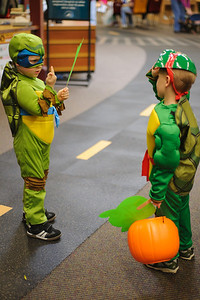 10-27-12.  Leonardo and Raphael get in a heated discussion over the best kind of pizza.