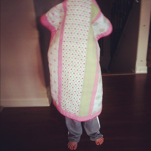 10-17-12.  Pink Polka-Dotted Pillowcase Phantom.