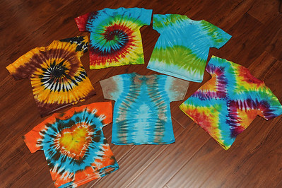 10-08-12.  A small sample of the tie dye shirts we made.