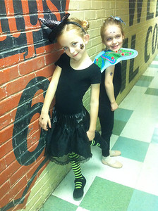 10-30-12.  Halloween costume day at ballet class.