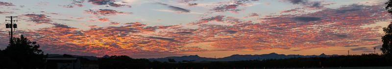Sept 1 - Sunrise south of Gilroy.