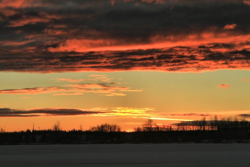 January 10, 2015.  Lake Spenard sunset