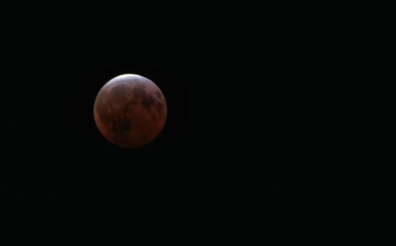 April 4, 2015.  Blood moon - total lunar eclipse