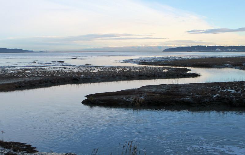 October 29, 2015.  Fish Creek at high tide