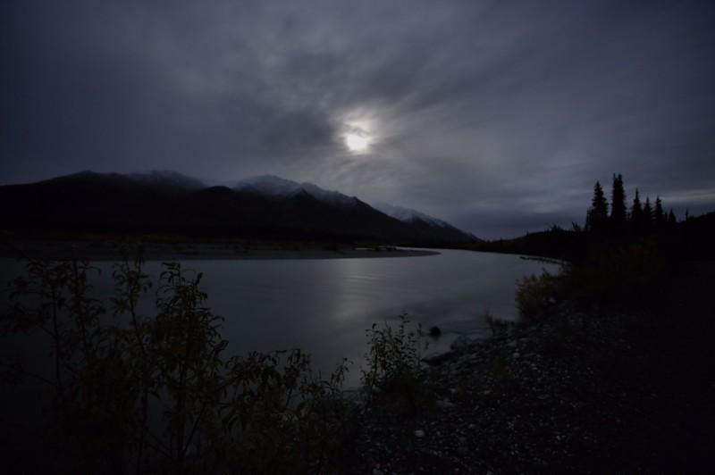 August 30, 2015.  Moonlight over the Koyukuk River