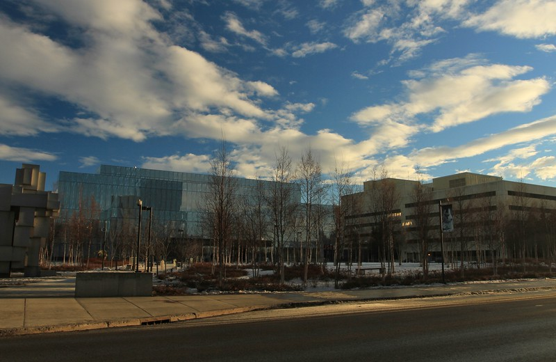 January 11, 2015.  Anchorage Museum and Federal Building