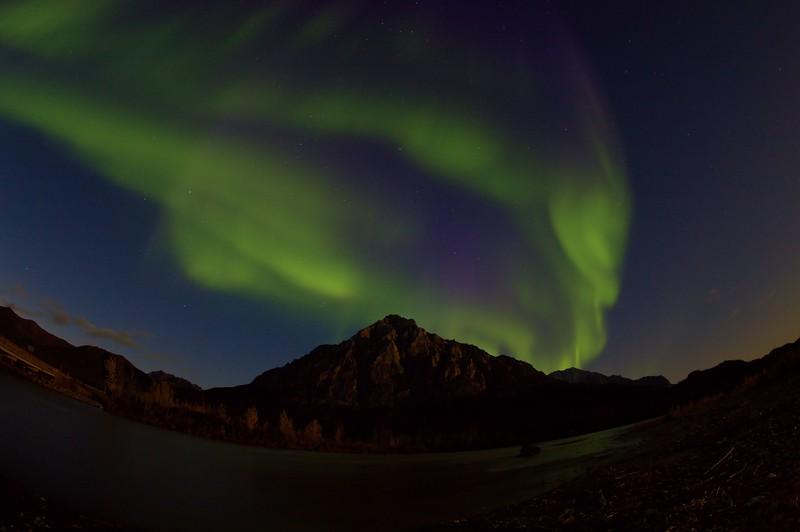 August 28, 2015.  Fisheye auroras