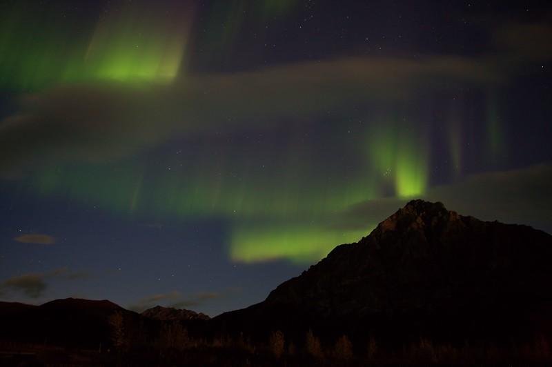 August 28, 2015.  Auroras over Mt. Dillon