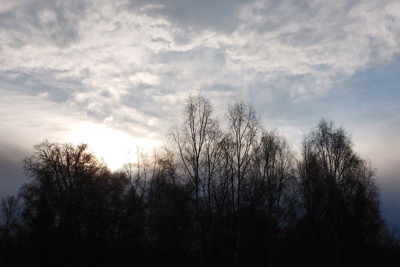 October 27, 2015.  Winter sky