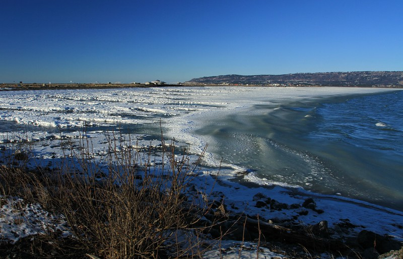 February 6, 2015.  Waves of ice