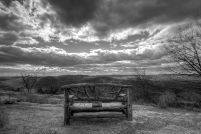 "I was hiking on a quasi mountain in the New York area where I took this photo of a chair.  This was a simple photo with a great view.  Remember to sit back and always enjoy the view.  Free to download this 47MegaPixel Image by clicking ""save photo""."