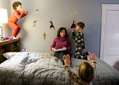Kristin Bullard has her hands full with three children and multi-tasks to keep up with taking care of her kids, housekeeping and other odds and ends.