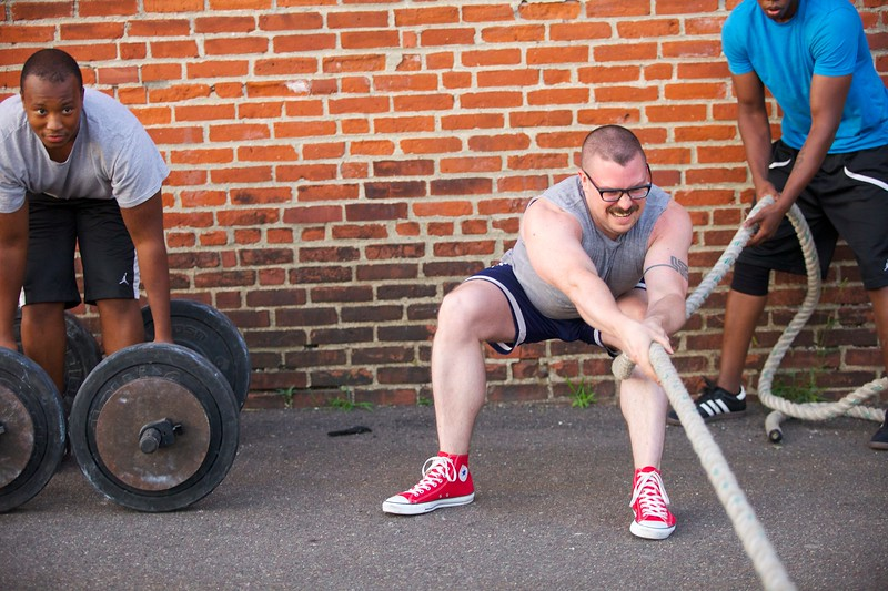 """""""Awesome Camp""""  is a high intensity weight training and lifting program."""
