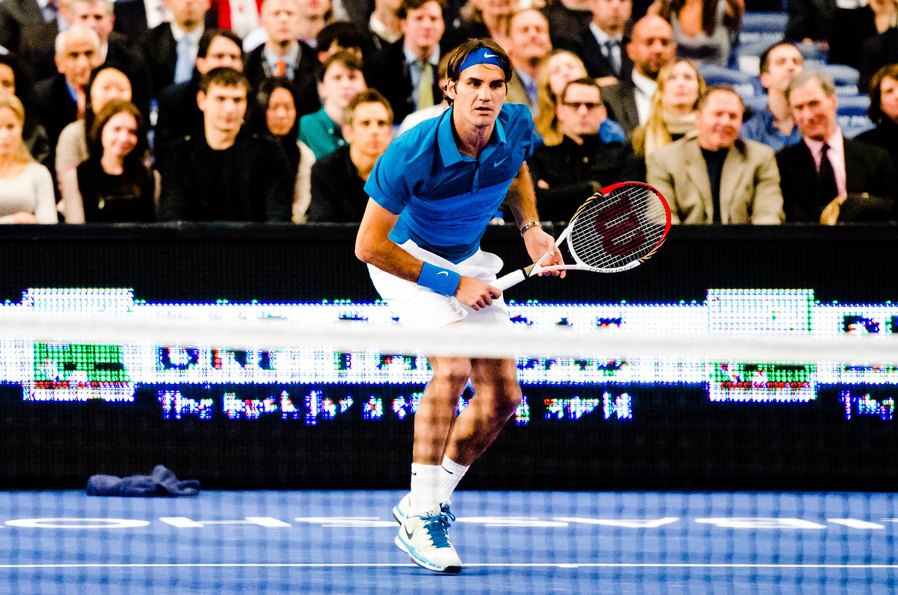 Tennis Night in America 2012 - Professional Tennis Player Roger Federer