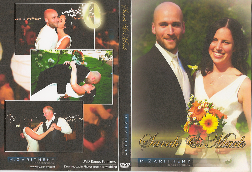 DVD Cover Design for Wedding Client
