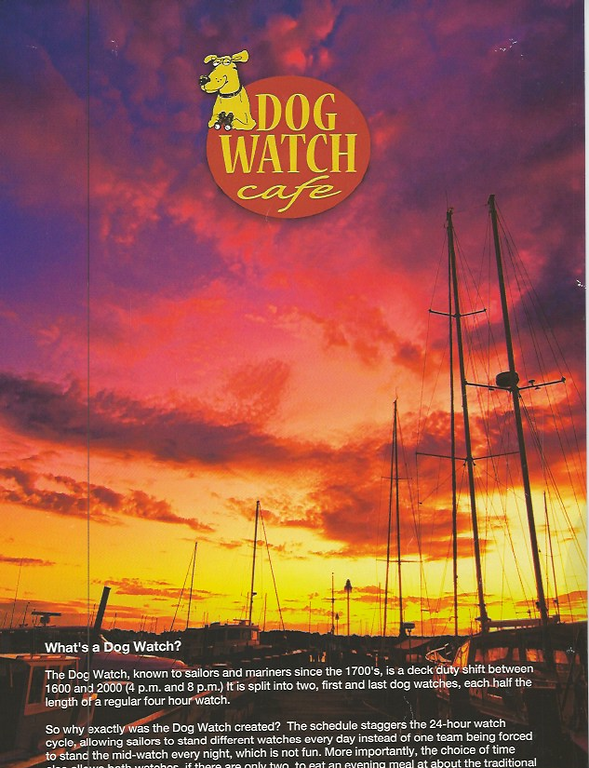 One of my images featured on the front of Spring/Summer 2012 Dog Watch Menu.