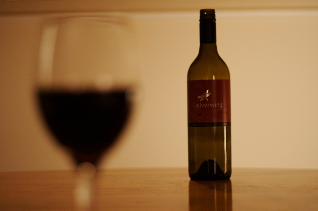 Wine Bottle in Focus