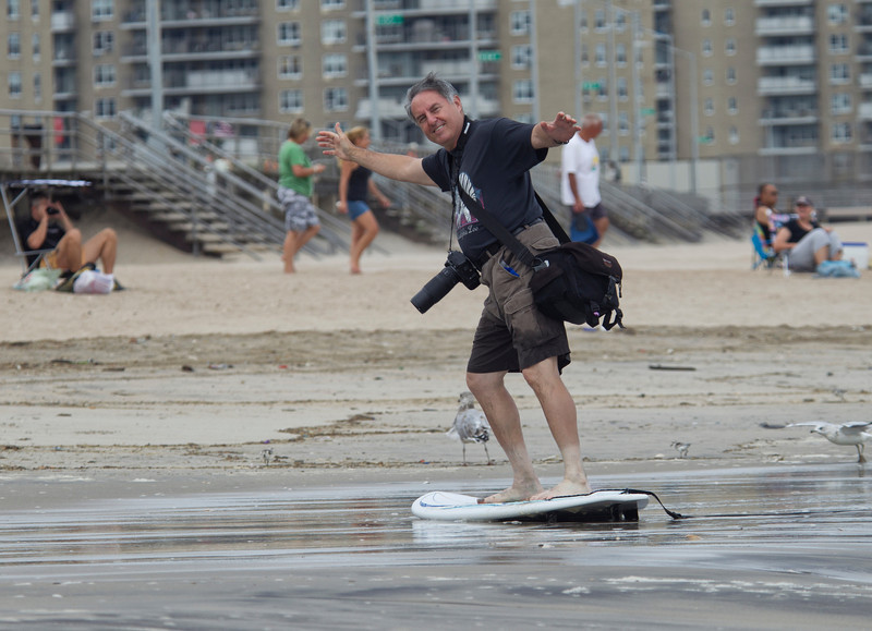 Stanley Abraham surfing president of the Brooklyn Camera club