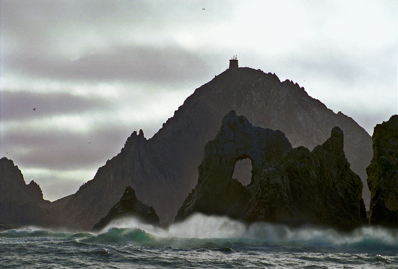 Thundering waves pound the western side of East Farallon island located 25 nm due west of the Golden Gate Bridge.