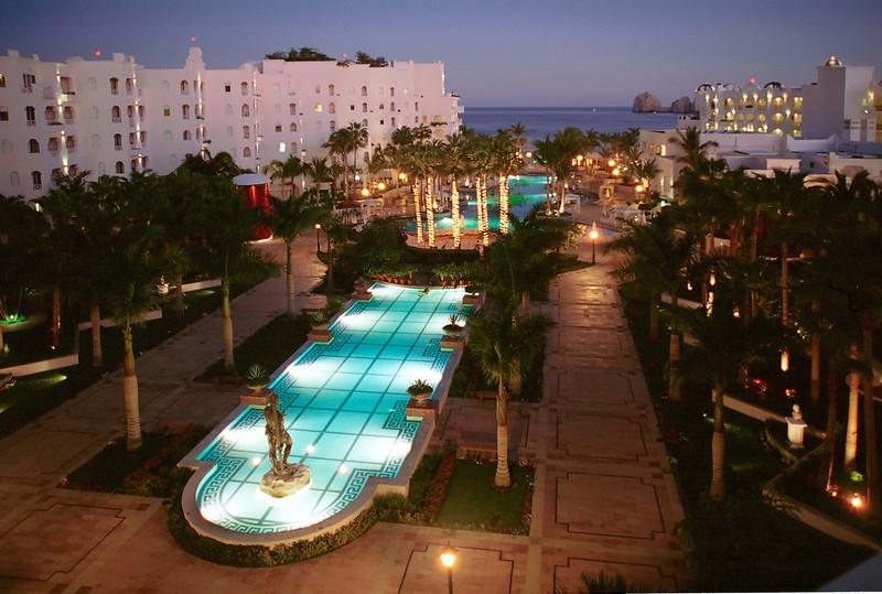 Evening falls on the Pueblo Bonita Rose resort in Cabo San Lucas, Mexico.