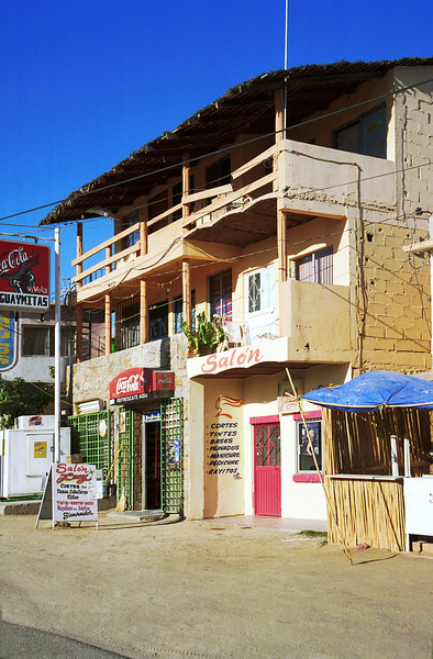 A multi-tenant business along the back streets of Cabo San Lucas, Mexico.