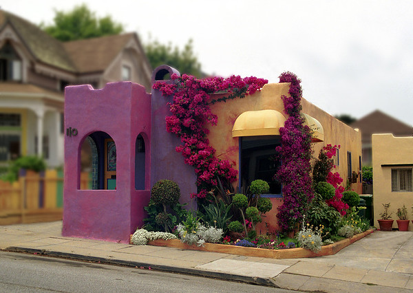 A colorful house in Monterey, CA, just up the street from Lovers Beach.