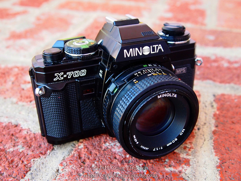Minolta X-700 (1981) with MD 50mm f/1.7 lens