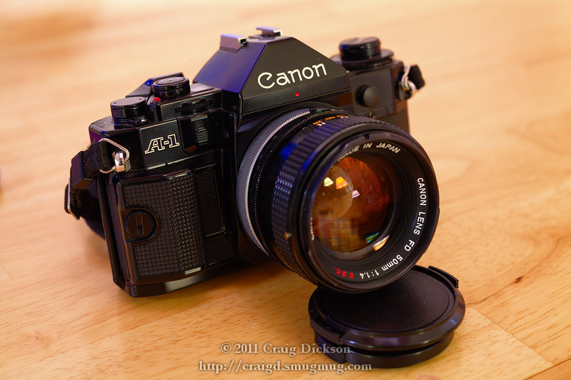 Canon A-1 with FD 50mm f/1.4 (1978)