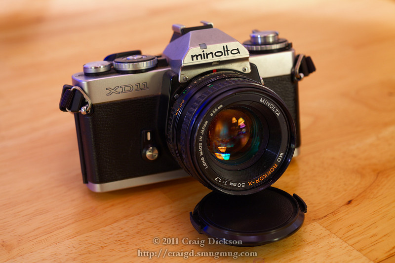 Minolta XD-11 with MD Rokkor-X 50mm f/1.7 (1977)