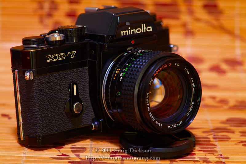 Minolta XE-7 with MC Rokkor-X PG 50mm f/1.4 (c. 1975)