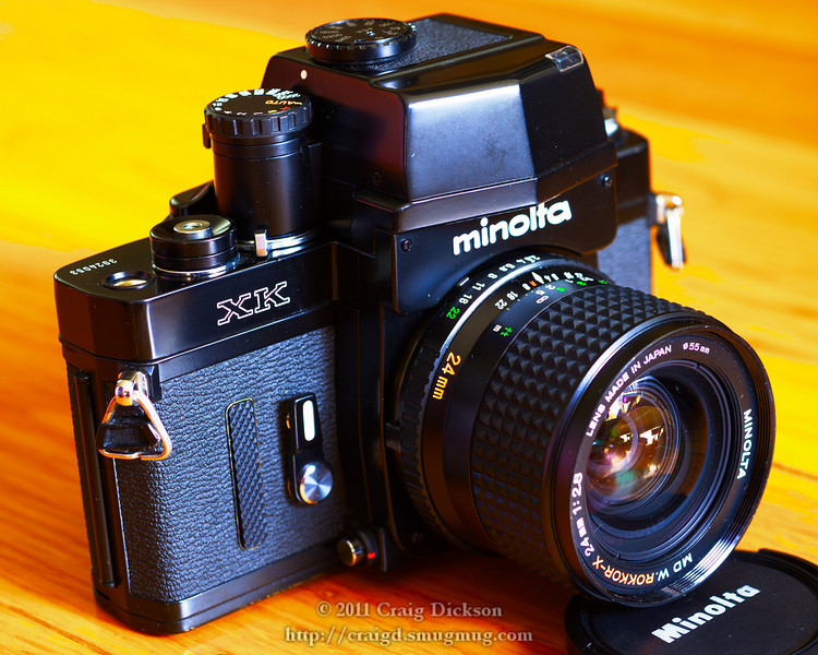 Minolta XK with MD W.Rokkor-X 24mm f/2.8