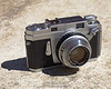 Konica III rangefinder with Seikosha MXL leaf shutter and Hexanon 48mm f/2 lens (1957)
