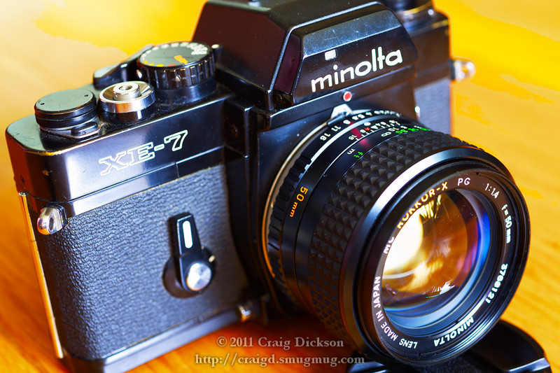 Minolta XE-7 with MC Rokkor-X 50mm f/1.4