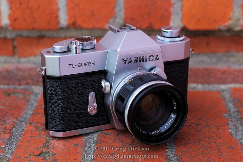 Yashica TL Super (late 1960s) with Yashinon Auto 5cm f2 lens (circa 1960)