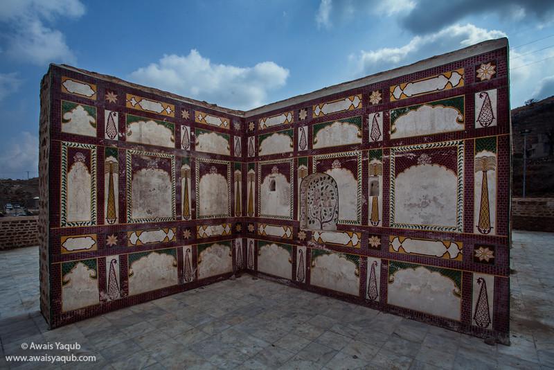 Open section of building, Katas Raj hindu temples located in salt range near Chakwal Punjab