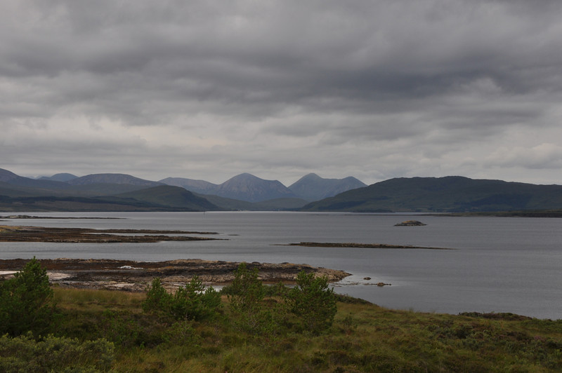 Looking north from Skye. August 2013.