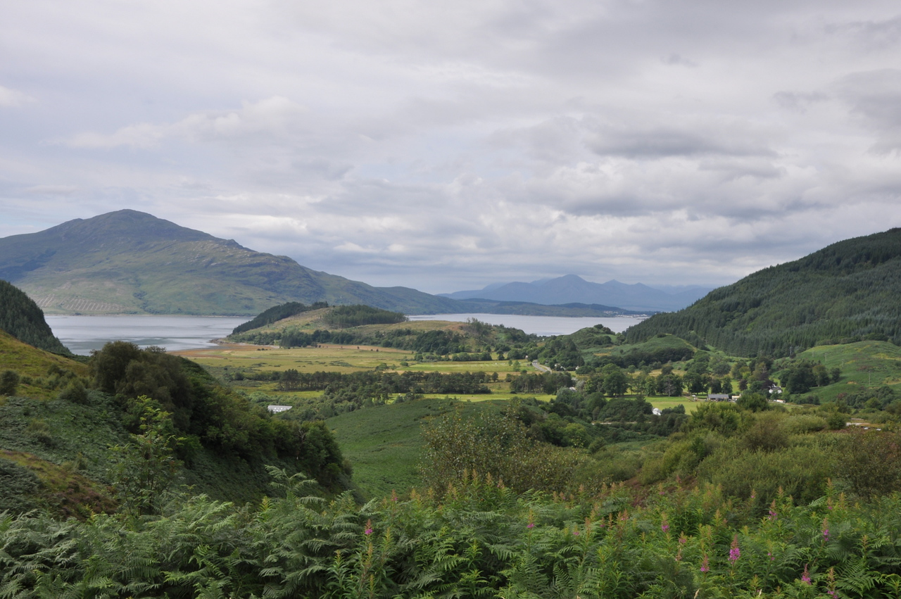 Overlooking Kyle of Lochalsh. August 2013.